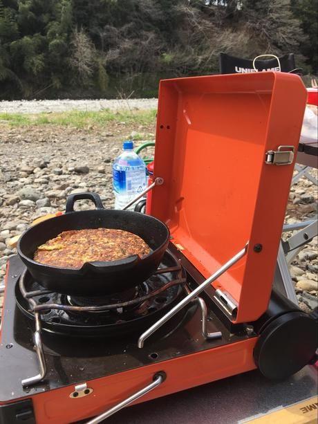 鍋を乗せたイワタニマーベラス