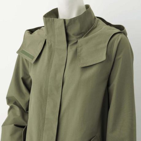 GUのマウンテンパーカー方から袖にかけてのデザイン