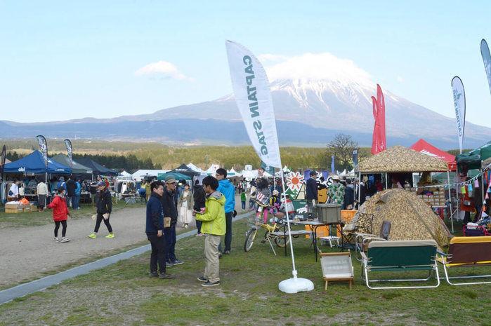 富士山のふもとで開催されたGO OUT CAMPの様子