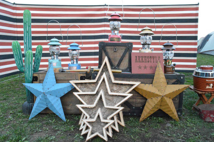 アメリカンヴィンテージな星のオブジェ