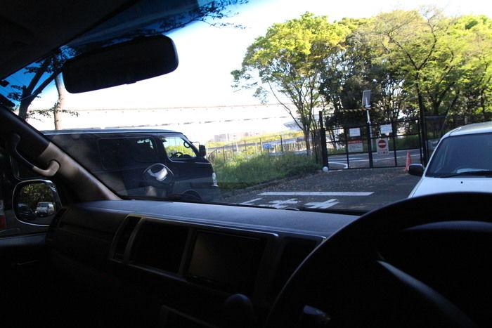 運転席から見た外の景色