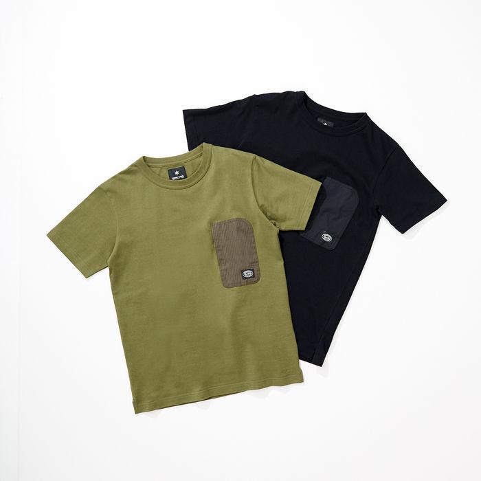 スノーピークとアーバンリサーチ ドアーズのコラボの半袖タイプの別注ポケットTシャツ