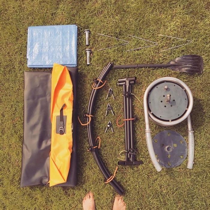 オリジナル・ノマドの折りたたみ式バスタブの道具