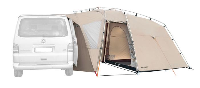 ファウデの車と連結できるテント