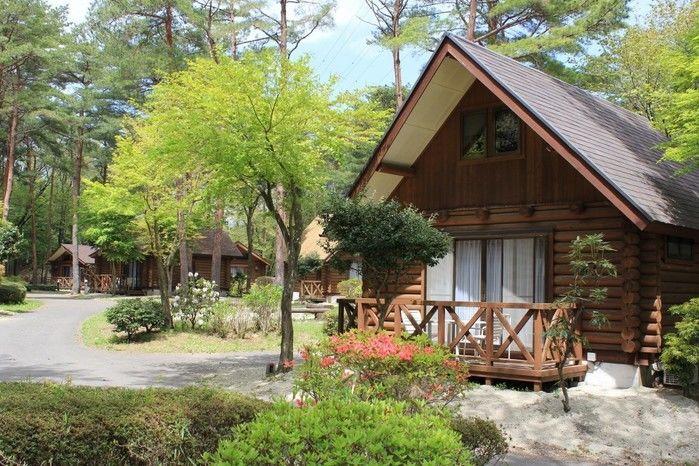 那須野が原公園オートキャンプ場のログハウス