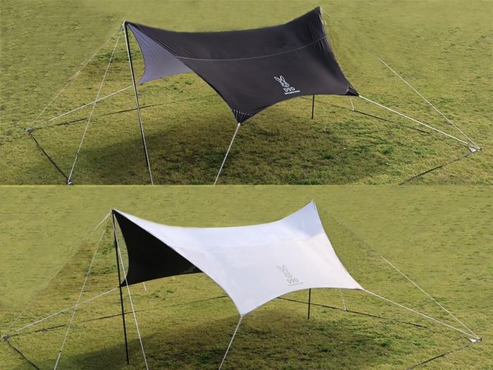 スマートタープのリバーシブル2色の比較画像