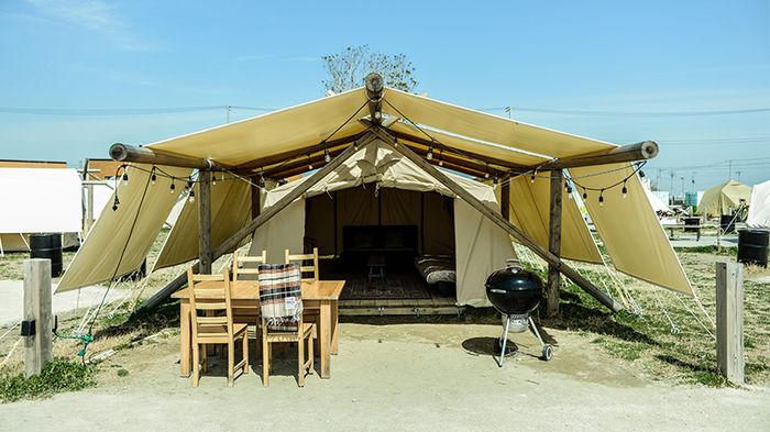 ワイルドビーチのキャンプサイトの様子