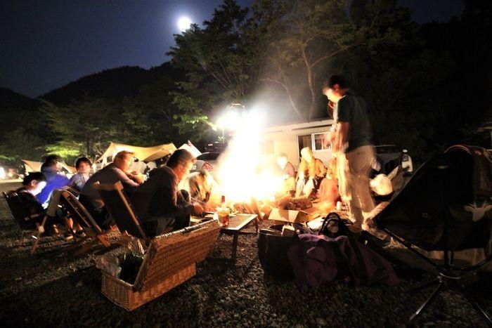焚き火を囲む人々