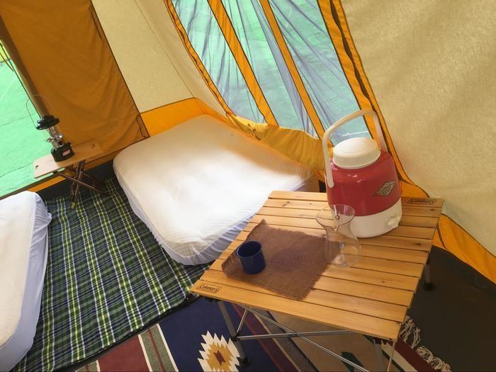 テントの中の様子