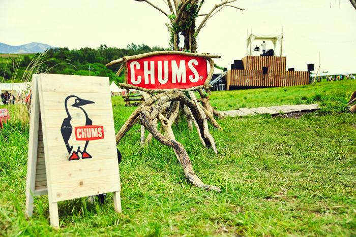 CHUMS CAMP 2017のゲート付近のCHUMSのロゴ
