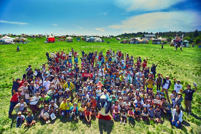 CHUMS CAMPに参加した人々の集合写真