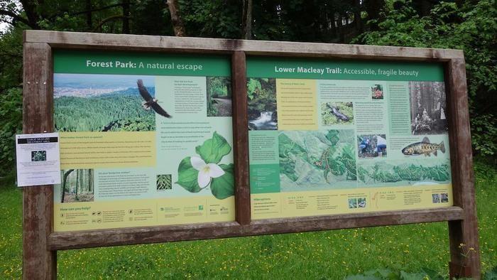 ポートランドの「フォレストパーク」の看板