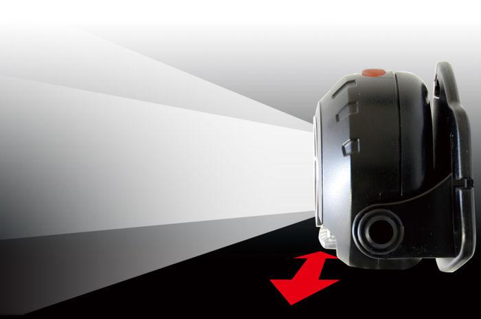 ジェントスのヘッドライトの照射モード