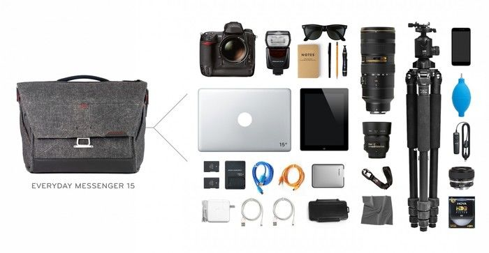 peak designのエブリデイ・メッセンジャーバッグに入る荷物の量