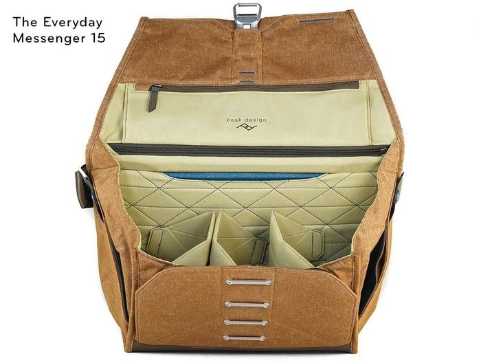 peak designのエブリデイ・メッセンジャーバッグの内部