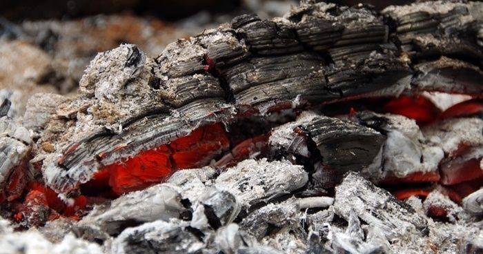 燃えている炭