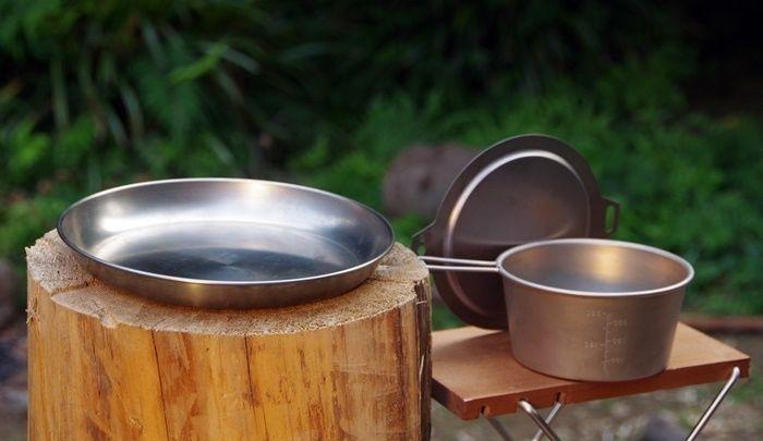 ベルモントのチタン製の食器や調理器具