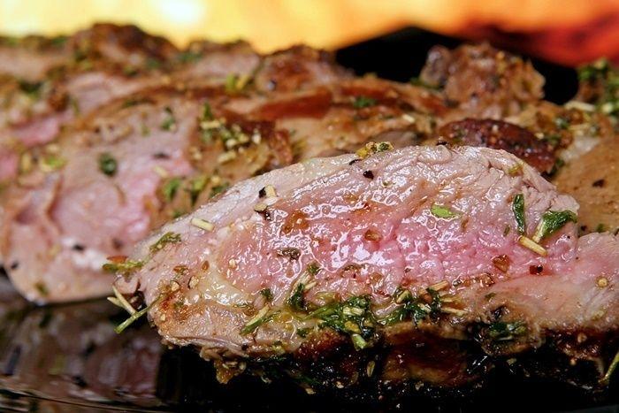 お皿に盛られたお肉