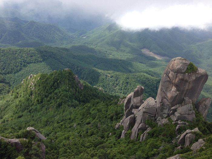 瑞牆山からみた山々