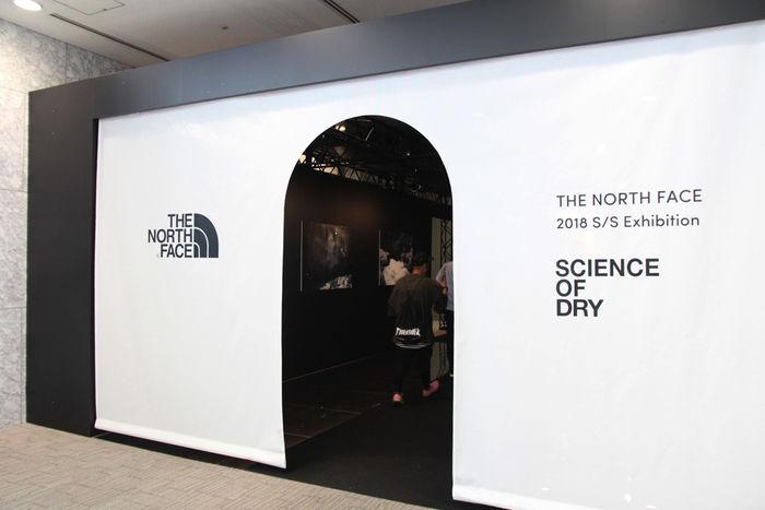 ザ・ノース・フェイスの2018展示会の入り口