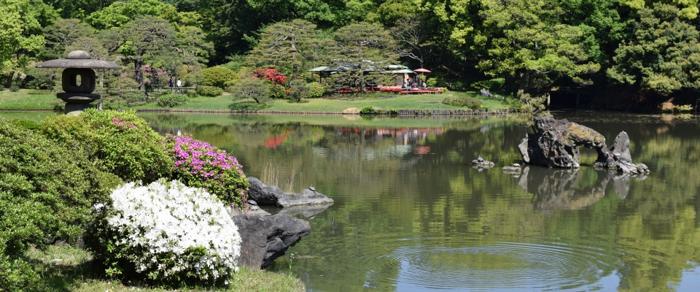 六義園の日本庭園
