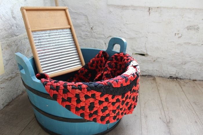 洗濯カゴと洗濯板