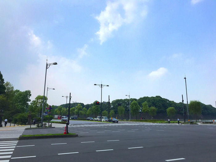 皇居前の交差点