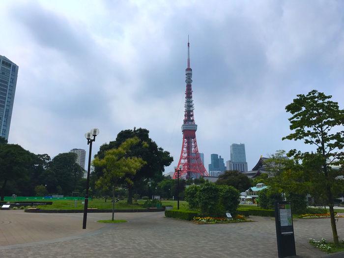 コース道中で見える東京タワー