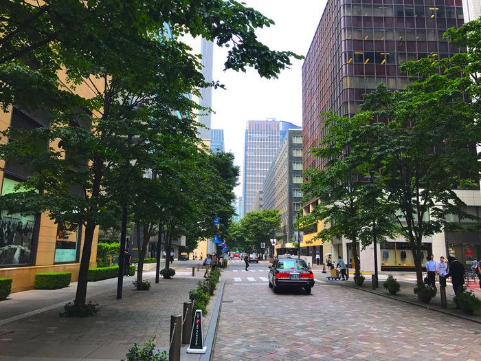 東京マラソンコースの丸の内エリア