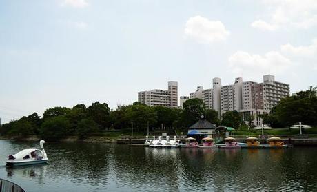 新左近川親水公園のボート乗り場の様子