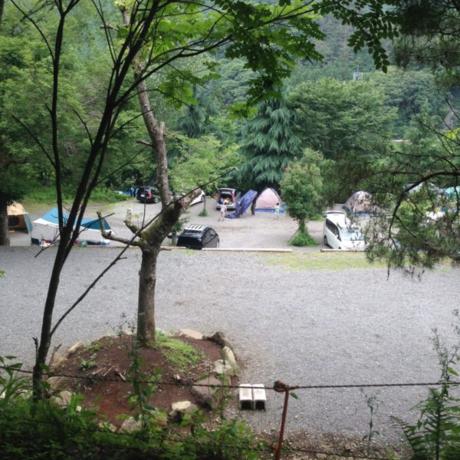 ニュー田代オートキャンプ場のキャンプサイト