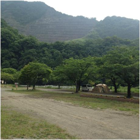 青野原オートキャンプ場のキャンプサイト