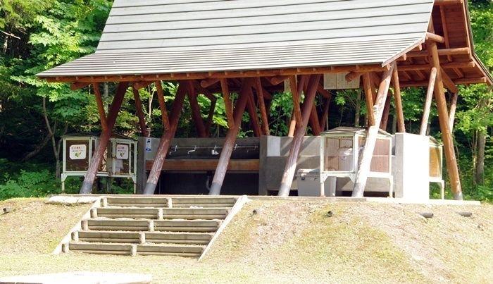 オンネトー野営場の炊事棟
