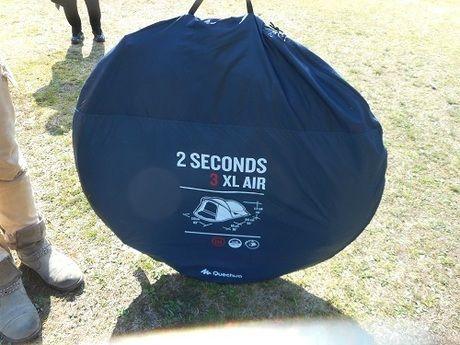 収納されたケシュア 2SECONDS XL AIR3