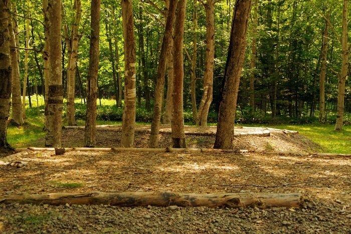 ぬかびら湖野営場のキャンプサイト