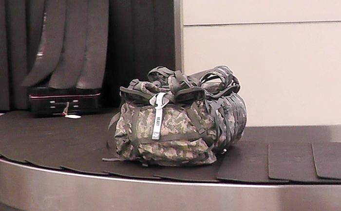 飛行機に預けられた荷物