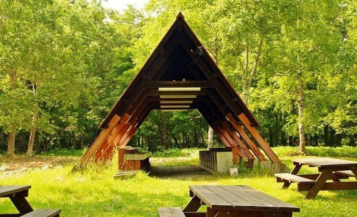 ぬかびら湖野営場の炊事棟