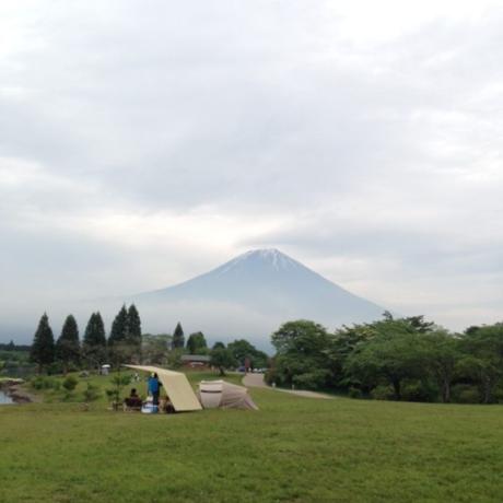 田貫湖キャンプ場から見た富士山