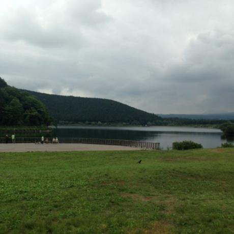 テント内から見た田貫湖