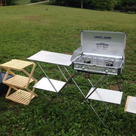 田貫湖キャンプ場に持ち込んだキャンプ道具