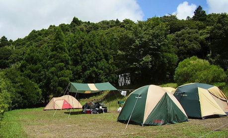 キャンピングヒルズ鴨川でのキャンプの様子