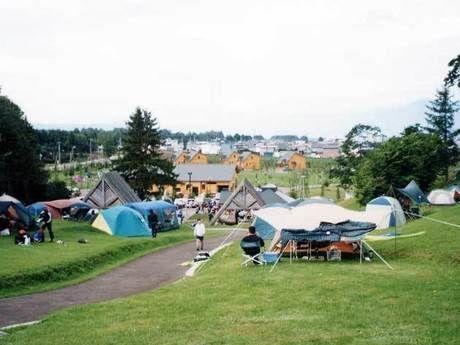 上富良野町日の出公園オートキャンプ場の様子