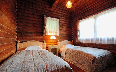 ルスツリゾート・ログハウスコテージの寝室