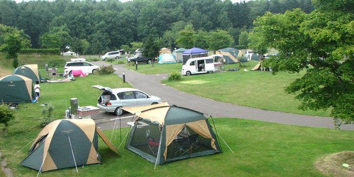 北海道立オホーツク公園オートキャンプ場てんとらんどのテントサイト
