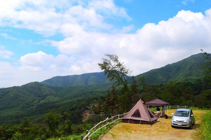 広大な自然に囲まれたほったらかしキャンプ場