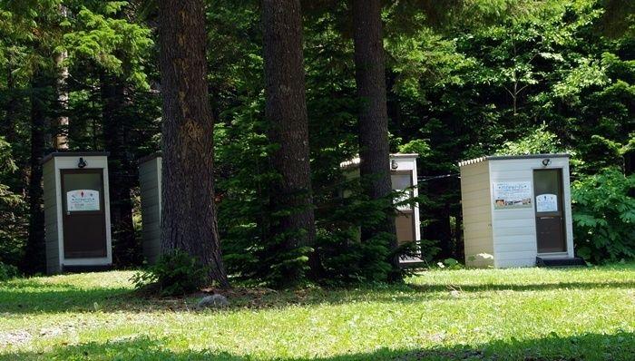 然別湖北岸野営場のトイレ