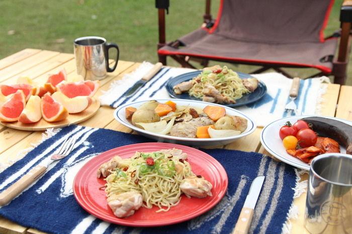 キャンプで作ったおしゃれ料理