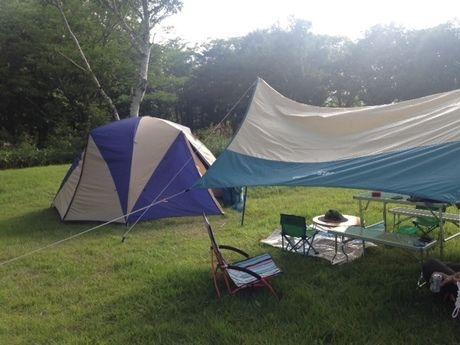 レンタル用品で完成したテントサイト