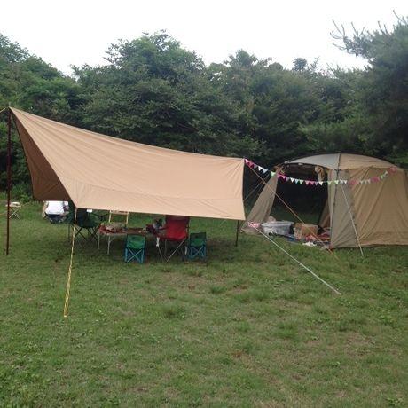 休暇村に設営されたキャンプセット