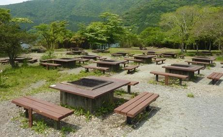 芦ノ湖キャンプ村のバーベキュー場